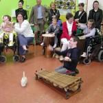 Atelier musique à l'IEM La Buissonnière de La Chapelle-sur-Erdre