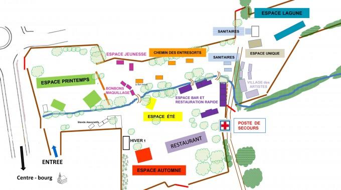 Plan du site-festival 2014