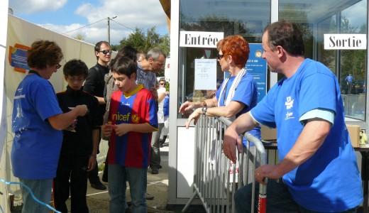 Équipe bénévole aux entrées. Édition 2010